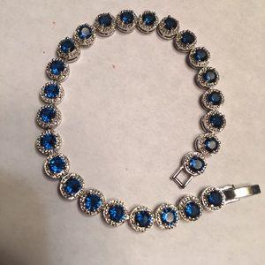 New Beautiful Blue Sapphire Tennis Bracelet